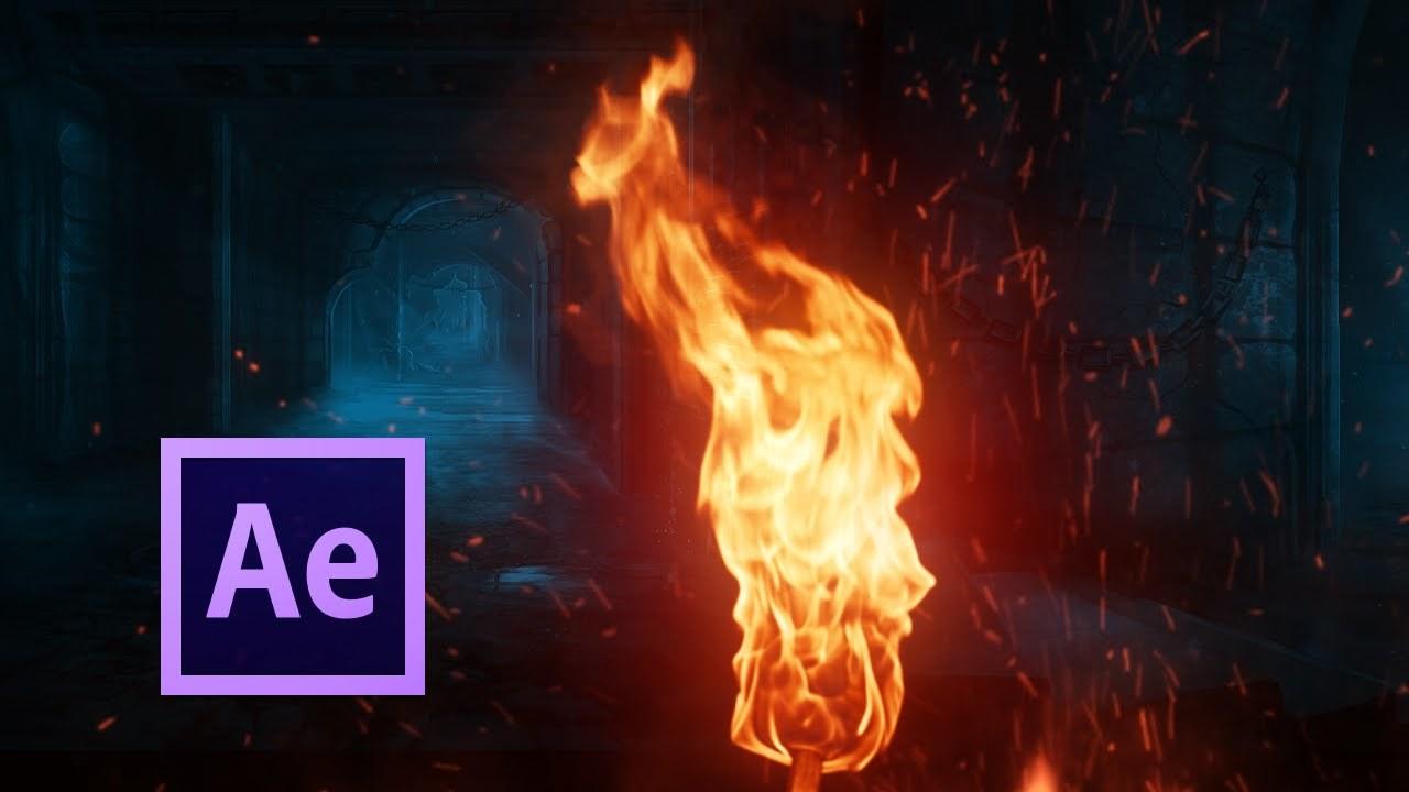 AfterEffectsを使ってリアルな炎を作るチュートリアル!!プロジェクトファイルもあるよ!!