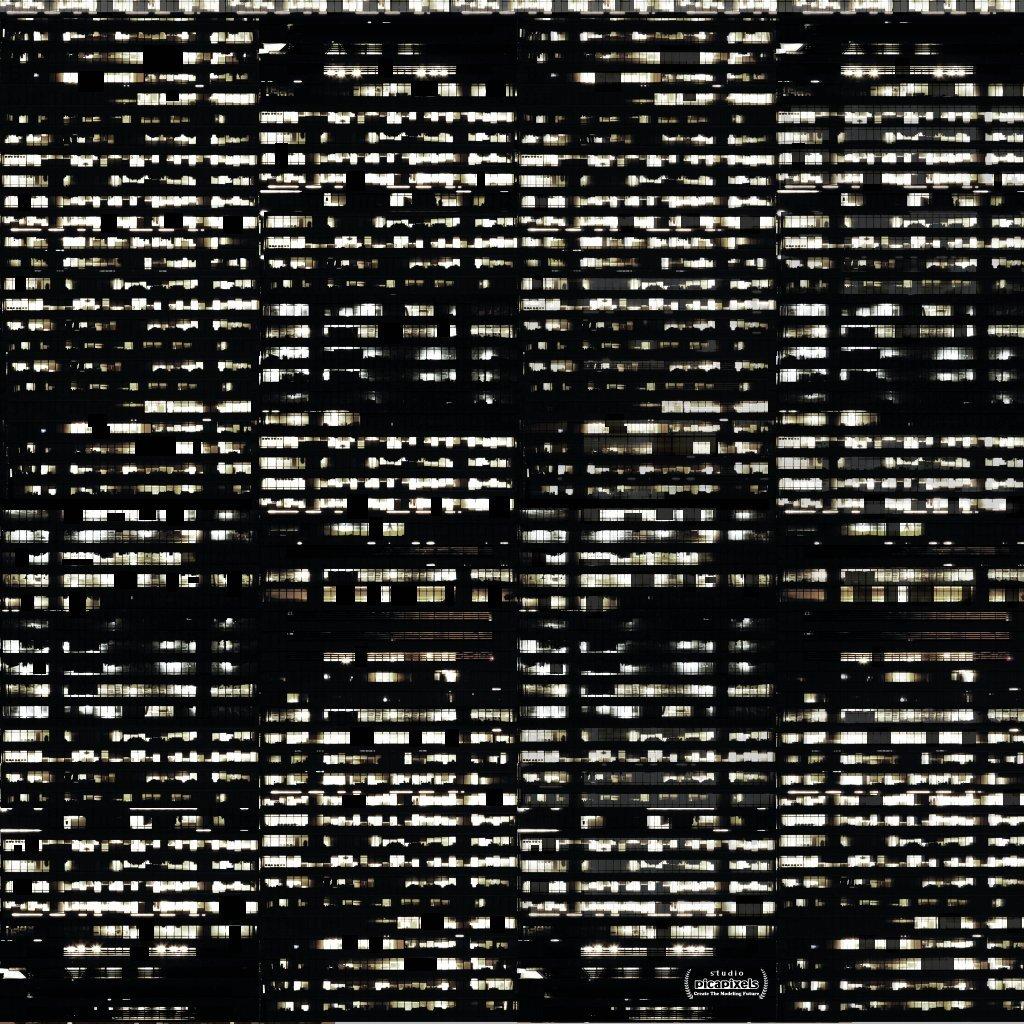 㠶足タケヒコ氏が制作!!夜のビル窓のテクスチャが公開されているぞ!!