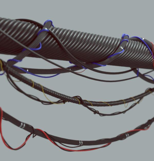 3dsMaxのケーブル制作プラグインがすごい!!Cables Splineのご紹介!!