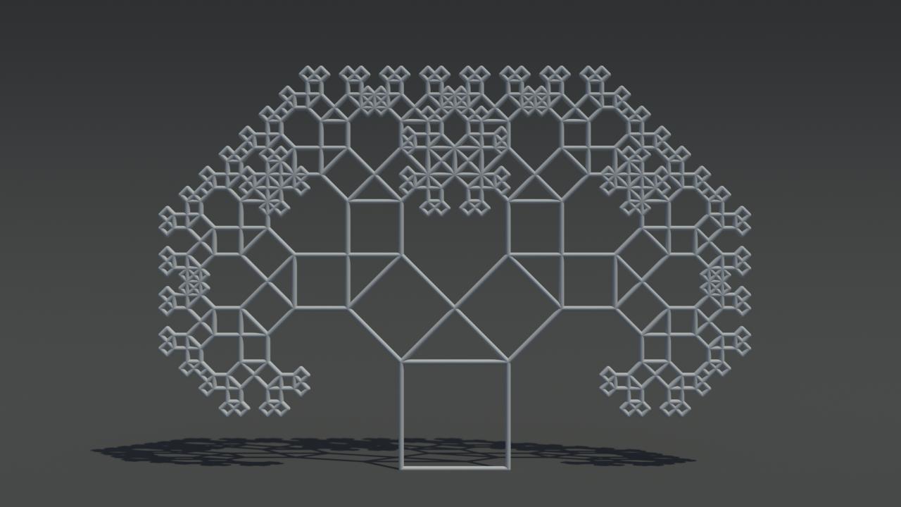 何に使うか分からないけどすごい!!mayaでフラクタル模様を作成してくれるスクリプト!!