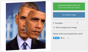 顔写真から3dモデルを作成してくれるサイト!!objでも書き出せるぞ!!