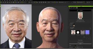 一枚の顔写真からモデルを作成するソフトHeadshot!!